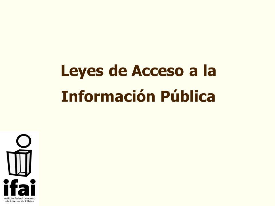 Leyes de Acceso a la Información Pública
