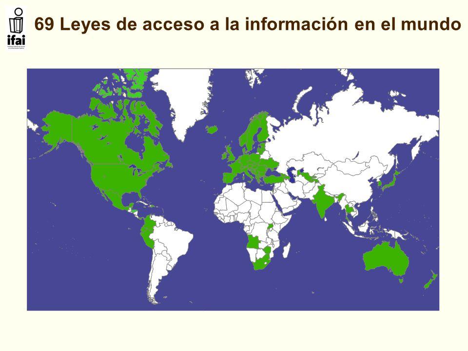 69 Leyes de acceso a la información en el mundo