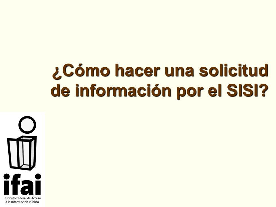 ¿Cómo hacer una solicitud de información por el SISI?