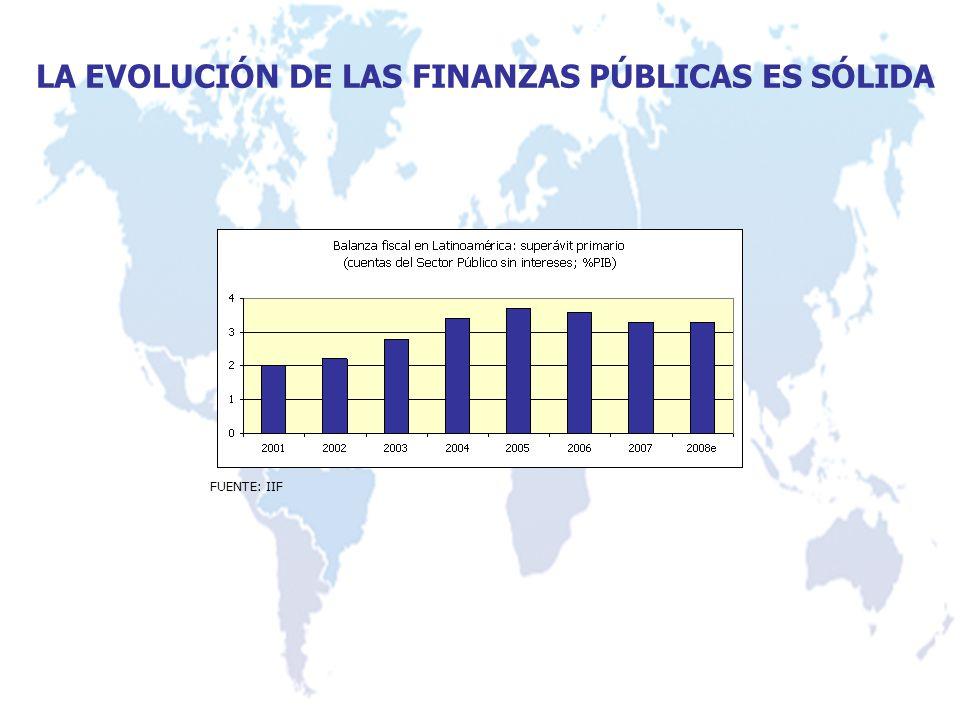 LA EVOLUCIÓN DE LAS FINANZAS PÚBLICAS ES SÓLIDA FUENTE: IIF