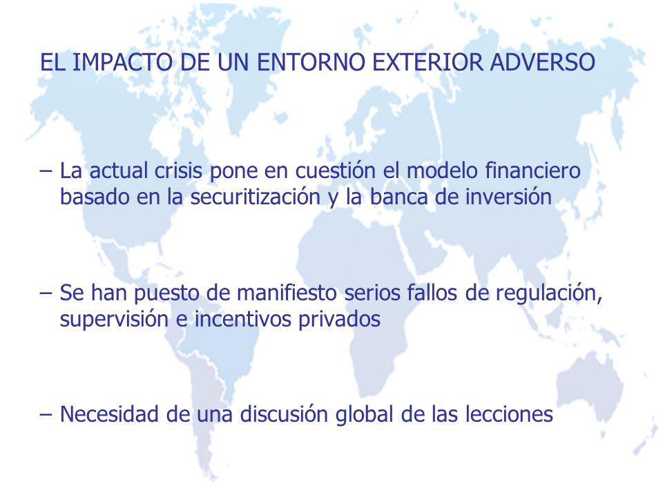 –La actual crisis pone en cuestión el modelo financiero basado en la securitización y la banca de inversión –Se han puesto de manifiesto serios fallos