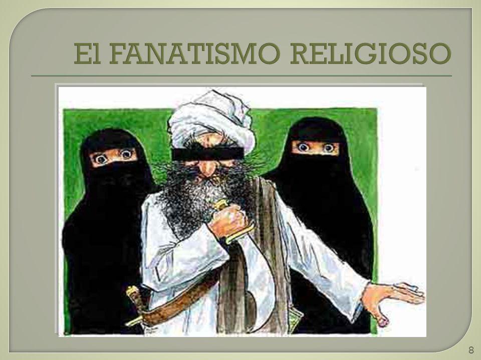 9 Religión Principal responsable de la mayoría de los ataques terroristas.