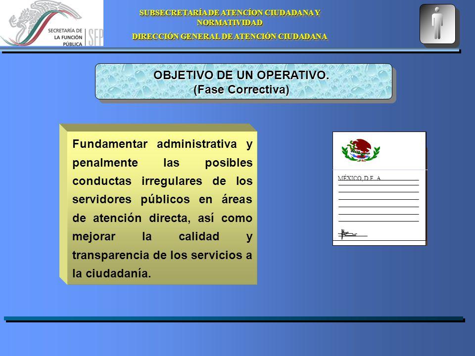 SUBSECRETARÍA DE ATENCÍON CIUDADANA Y NORMATIVIDAD DIRECCIÓN GENERAL DE ATENCIÓN CIUDADANA SUBSECRETARÍA DE ATENCÍON CIUDADANA Y NORMATIVIDAD DIRECCIÓN GENERAL DE ATENCIÓN CIUDADANA MÉXICO, D.F.