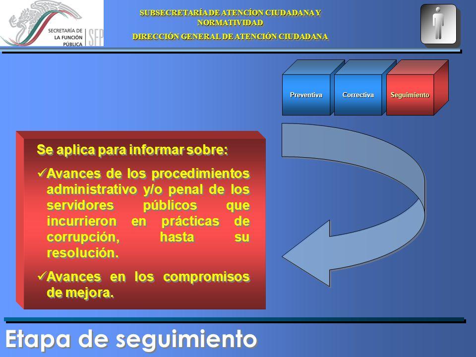 SUBSECRETARÍA DE ATENCÍON CIUDADANA Y NORMATIVIDAD DIRECCIÓN GENERAL DE ATENCIÓN CIUDADANA SUBSECRETARÍA DE ATENCÍON CIUDADANA Y NORMATIVIDAD DIRECCIÓN GENERAL DE ATENCIÓN CIUDADANA Planeación Solicitudes de Dependencias y/o entidades Tramite/servicios de Alto Impacto Planeación Solicitudes de Dependencias y/o entidades Tramite/servicios de Alto Impacto Reportes y compromisos de las áreas Operativos Fundamentación jurídica y/o administrativa de la actuación Operativos Fundamentación jurídica y/o administrativa de la actuación Seguimiento Compromisos de mejora Actas Administrativas Actas Penales Seguimiento Compromisos de mejora Actas Administrativas Actas Penales Quejas o denuncias ciudadanas Inicio Reporte Verificación de indicadores Simulación de trámites Verificación de indicadores Simulación de trámites Corrupción Sí No Diagrama de Operación
