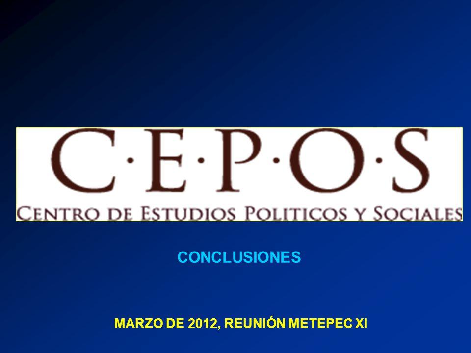 MARZO DE 2012, REUNIÓN METEPEC XI CONCLUSIONES