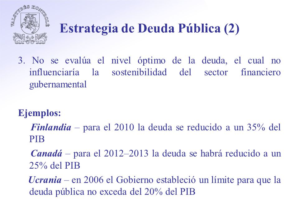 Estrategia de Deuda Pública (2) 3.