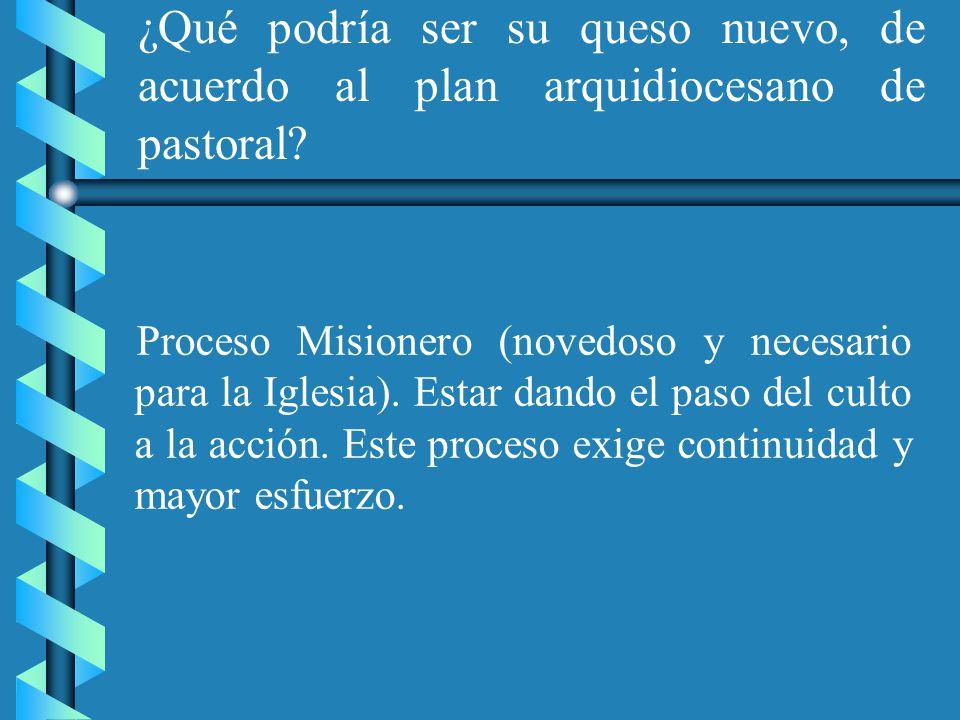 ¿Usted cree que hay un cambio en el trabajo pastoral de la Arquidiócesis después del Sínodo.