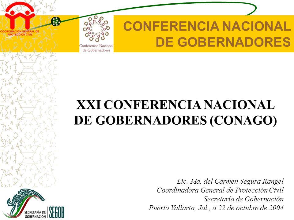 CONFERENCIA NACIONAL DE GOBERNADORES XXI CONFERENCIA NACIONAL DE GOBERNADORES (CONAGO) Lic.