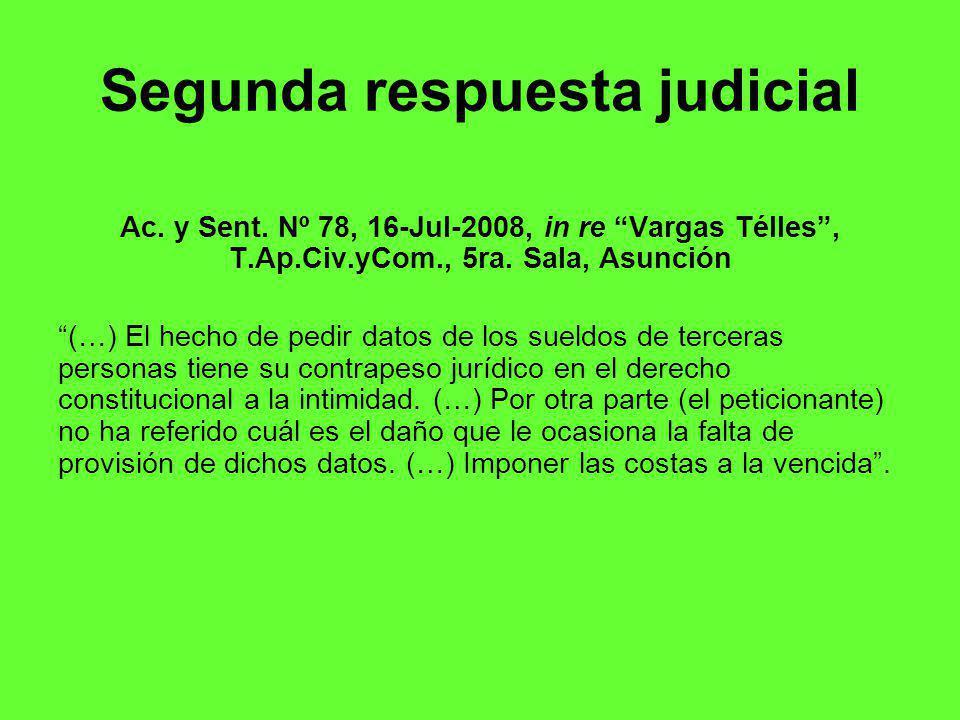 Segunda respuesta judicial Ac.y Sent.
