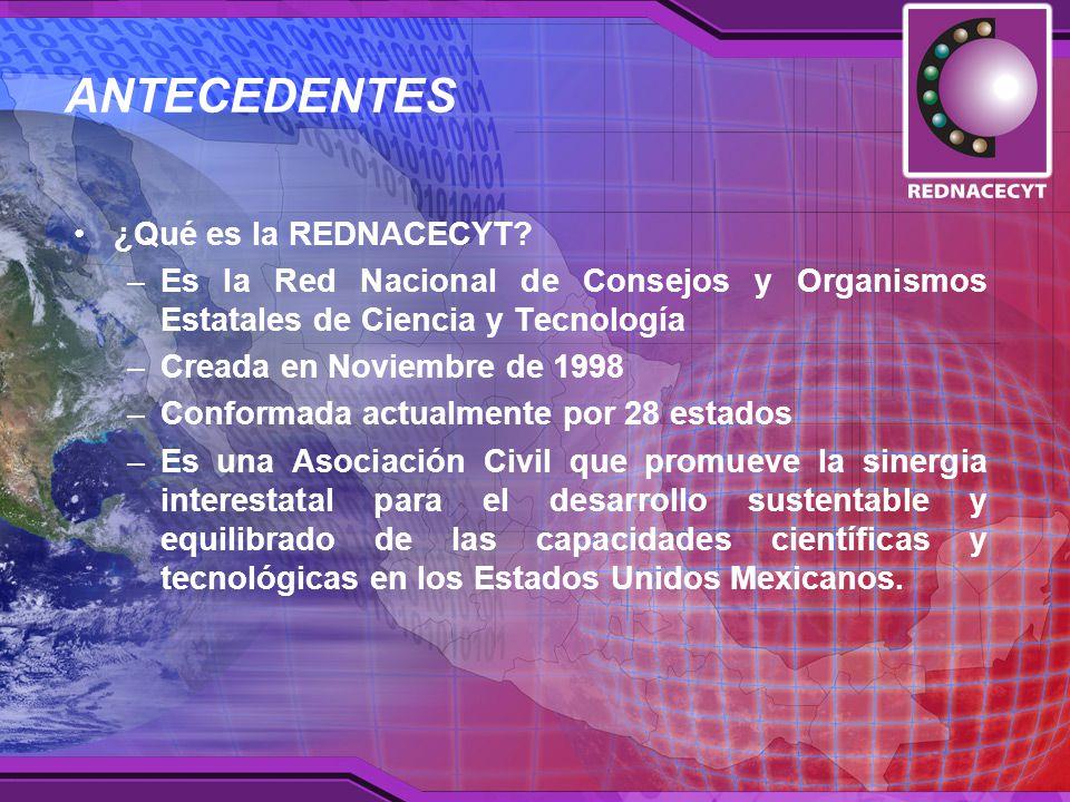 ANTECEDENTES ¿Qué es la REDNACECYT.