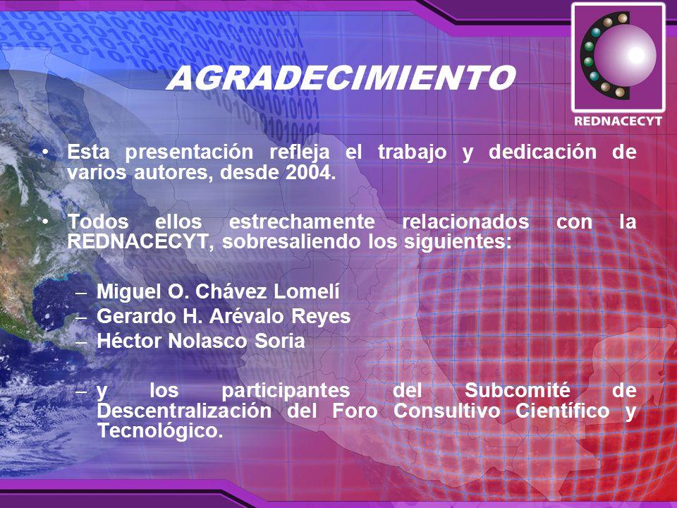 AGRADECIMIENTO Esta presentación refleja el trabajo y dedicación de varios autores, desde 2004.