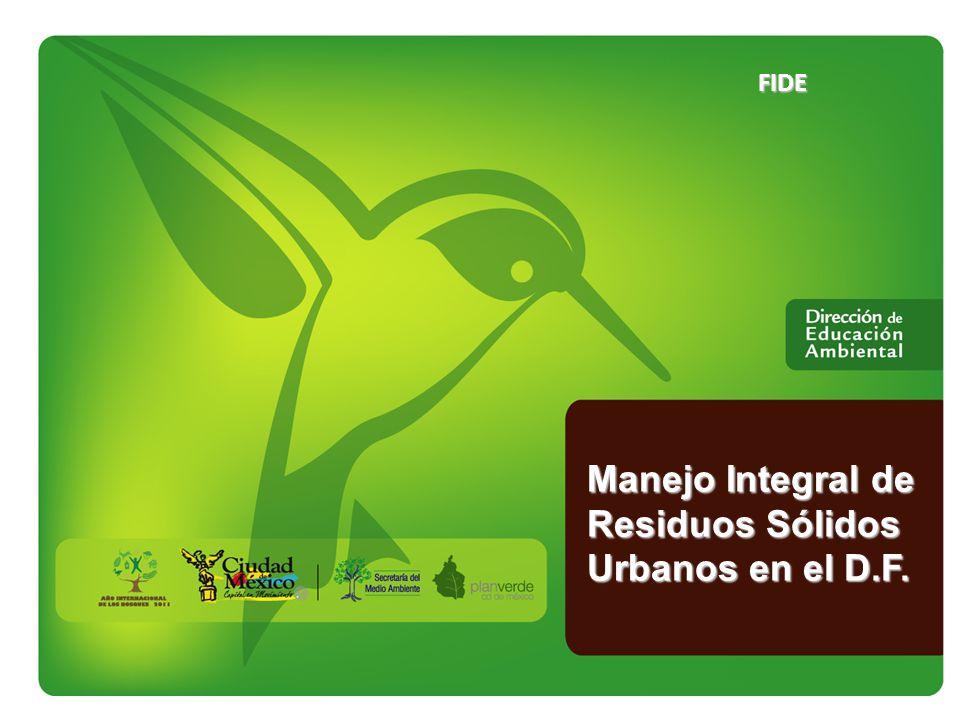 Manejo Integral de Residuos Sólidos Urbanos en el D.F. Cobertura final Pastización y reforestación