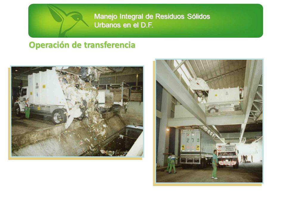 Manejo Integral de Residuos Sólidos Urbanos en el D.F. Operación de transferencia