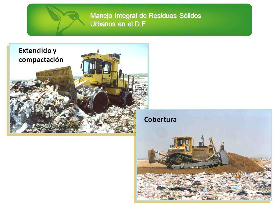 Manejo Integral de Residuos Sólidos Urbanos en el D.F. Extendido y compactación Cobertura