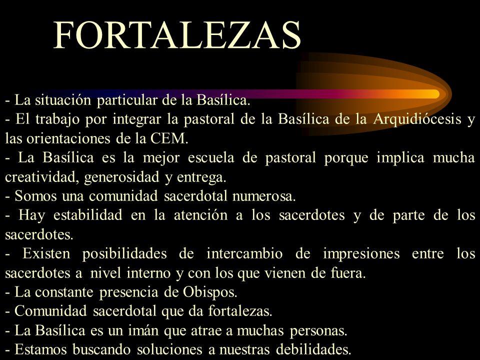 FORTALEZAS - La situación particular de la Basílica.