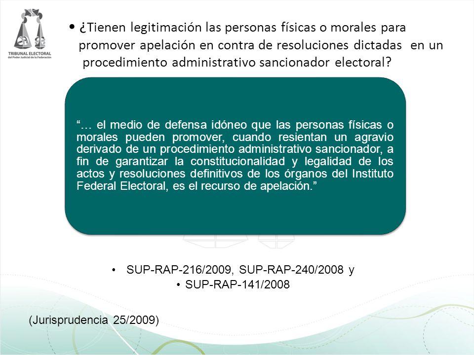¿ Tienen legitimación las personas físicas o morales para promover apelación en contra de resoluciones dictadas en un procedimiento administrativo san