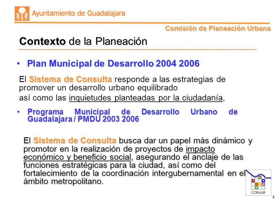 Comisión de Planeación Urbana 3 Plan Municipal de Desarrollo 2004 2006Plan Municipal de Desarrollo 2004 2006 Contexto de la Planeación Sistema de Cons