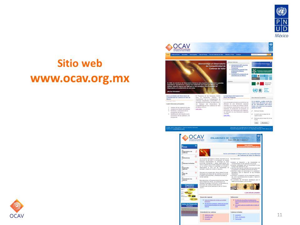 Comunicación Sitio web www.ocav.org.mx 11