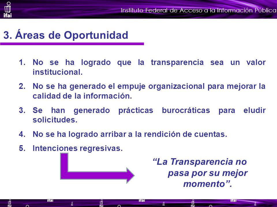 Instituto Federal de Acceso a la Información Pública 3.