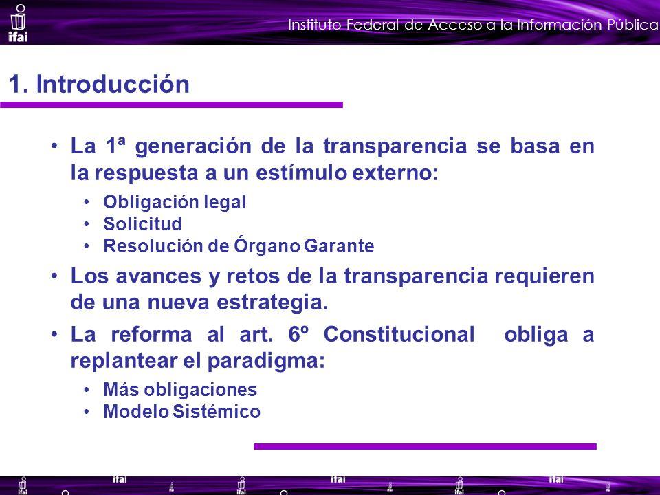 Instituto Federal de Acceso a la Información Pública 1.
