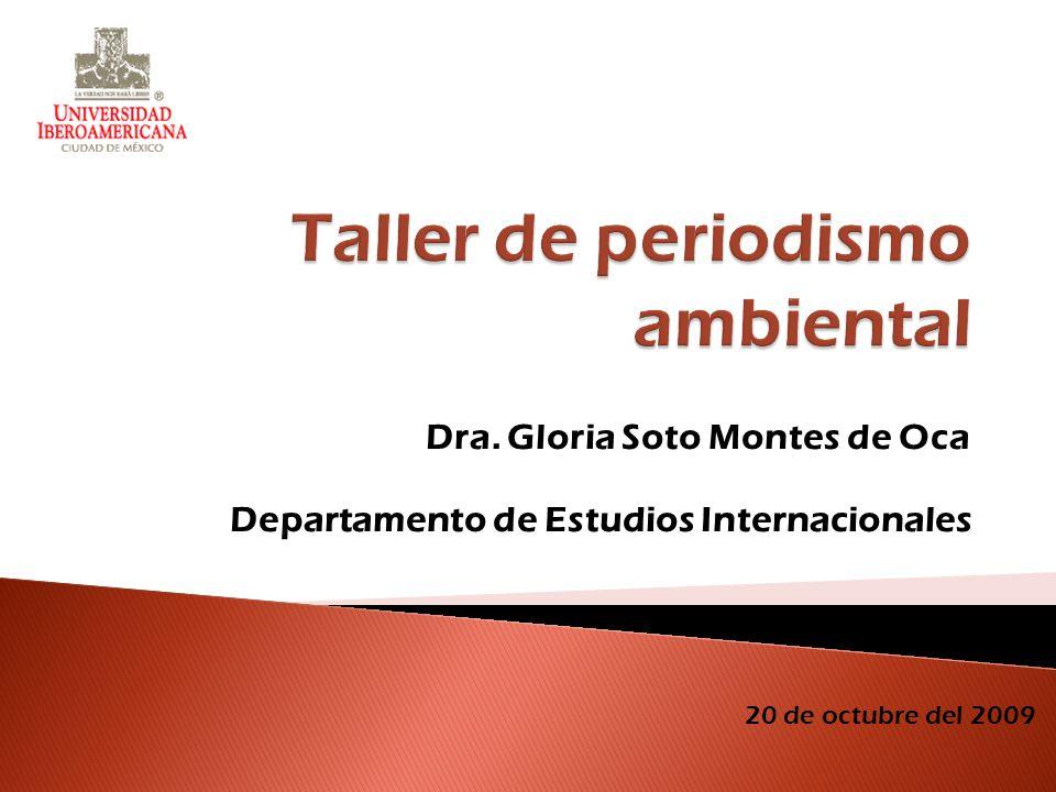Dra. Gloria Soto Montes de Oca Departamento de Estudios Internacionales 20 de octubre del 2009