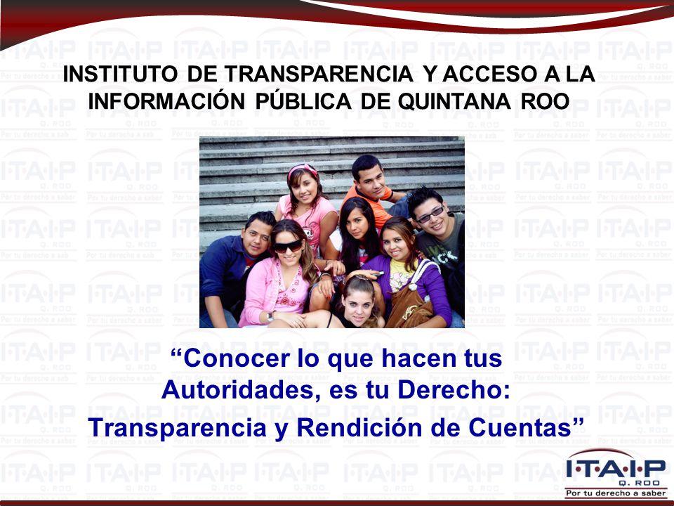 Sitio Web Institucional Fundamento: Artículo 15 de la LTAIPQROO. www.itaipqroo.org.mx