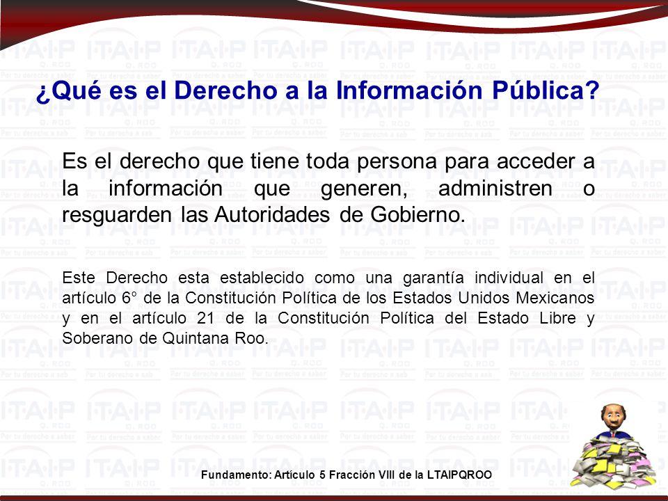 Teléfono SUJETO OBLIGADOSitio Web 01983 8333042PODER EJECUTIVO www.transparencia.qroo.gob.mx 01983 8322822PODER LEGISLATIVO www.congresoqroo.gob.mx 0193 9327706PODER JUDICIAL www.tsjqroo.gob.mx 01983 8329965COMISIÓN ESTATAL DE DERECHOS HUMANOS www.cdheqroo.org.mx 01983 8328988INSTITUTO ELECTORAL DE QUINTANA ROO www.ieqroo.org.mx 0193 93 31927TRIBUNAL ELECTORAL DE QUINTANA ROO www.teqroo.org.mx 01983 8332408AUDITORIA SUPERIOR DEL ESTADO www.ase.qroo.gob.mx 01800 0048247INSTITUTO DE TRANSPARENCIA Y ACCESO A LA INFORMACIÓN PÚBLICA DE QUINTANA ROO www.itaipqroo.org.mx 01998 8922032MUNICIPIO DE BENITO JUÁREZ www.transparenciacancun.gob.mx 01987 8729800MUNICIPIO DE COZUMEL www.cozumel.gob.mx 01983 8340120MUNICIPIO DE FELIPE CARRILLO PUERTO www.felipecarrillopuerto.gob.mx 01998 8770098MUNICIPIO DE ISLA MUJERES www.islamujeres.gob.mx 01997 9780225MUNICIPIO DE JOSÉ MARÍA MORELOS www.josemariamorelos.gob.mx 01984 8750028MUNICIPIO DE LÁZARO CÁRDENAS www.lazarocardenas.gob.mx 01983 8351501MUNICIPIO DE OTHÓN P.