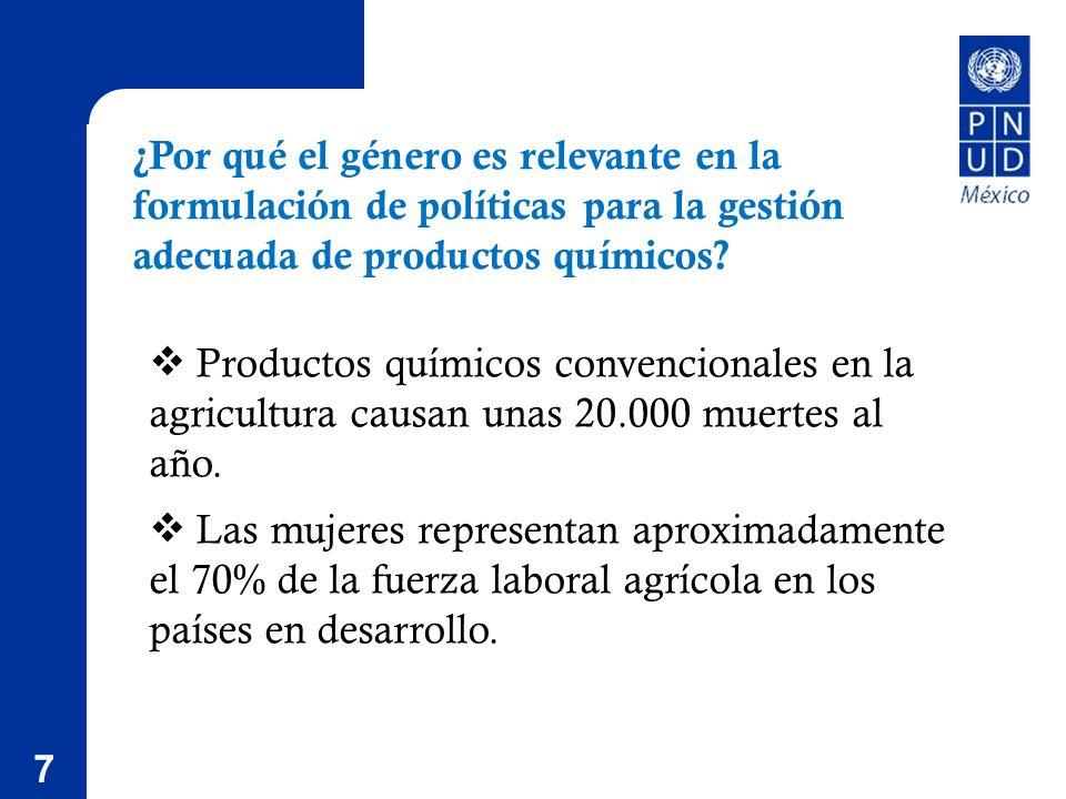 7 ¿Por qué el género es relevante en la formulación de políticas para la gestión adecuada de productos químicos.