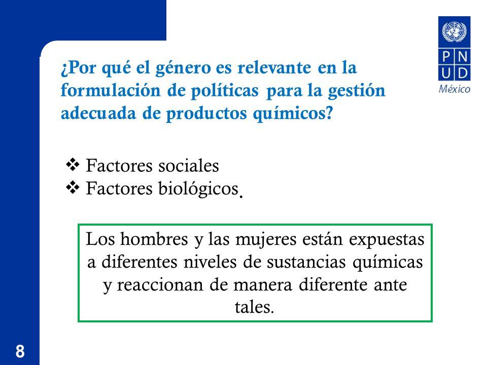 8 Factores sociales Factores biológicos.