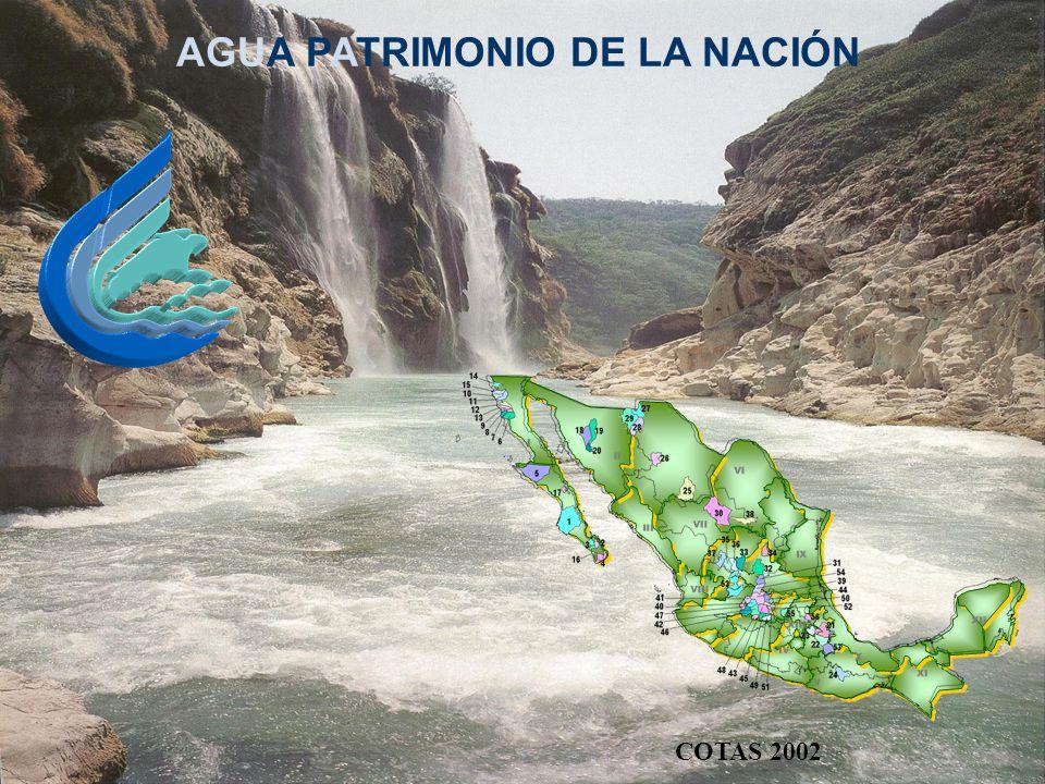 AGUA PATRIMONIO DE LA NACIÓN COTAS 2002