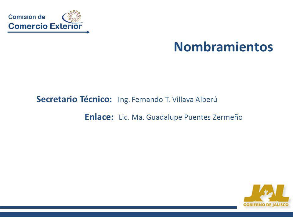 Secretario Técnico: Ing. Fernando T. Villava Alberú Enlace: Lic.