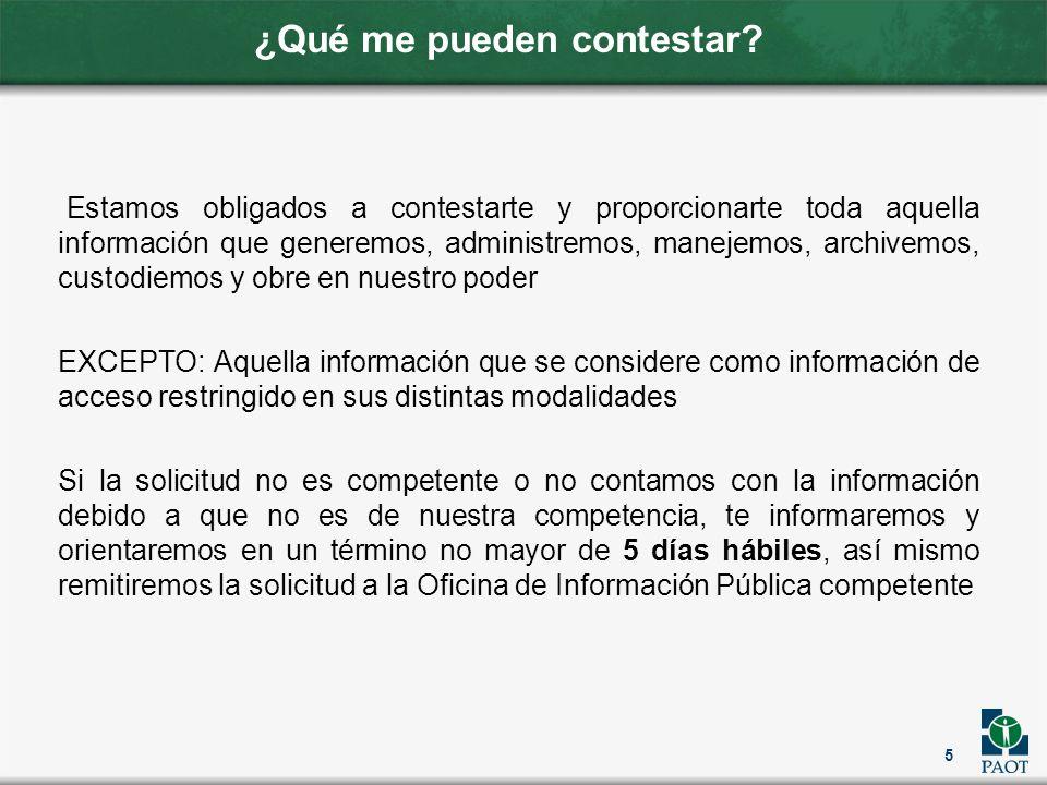 ¿Tiene algún costo.Las solicitudes de acceso a la información pública serán gratuitas.
