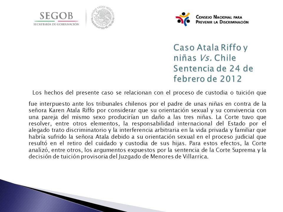 Los hechos del presente caso se relacionan con el proceso de custodia o tuición que fue interpuesto ante los tribunales chilenos por el padre de unas