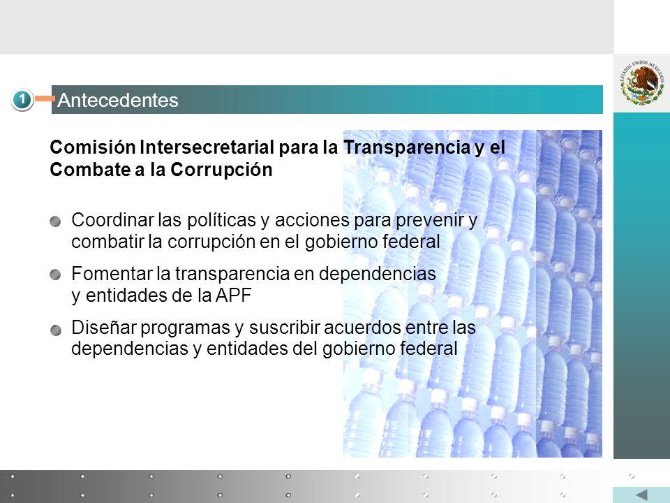 Coordinar las políticas y acciones para prevenir y combatir la corrupción en el gobierno federal Fomentar la transparencia en dependencias y entidades