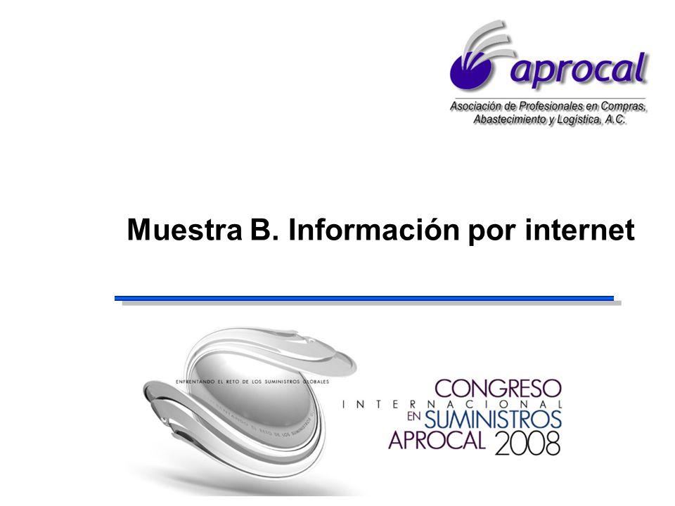 Muestra B. Información por internet