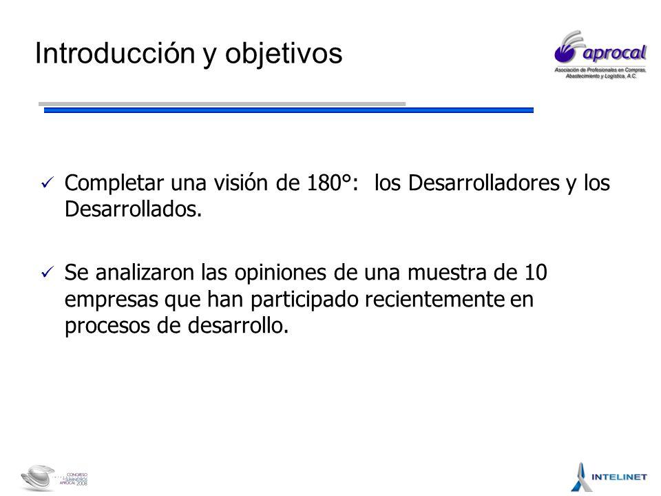Introducción y objetivos Completar una visión de 180°: los Desarrolladores y los Desarrollados.
