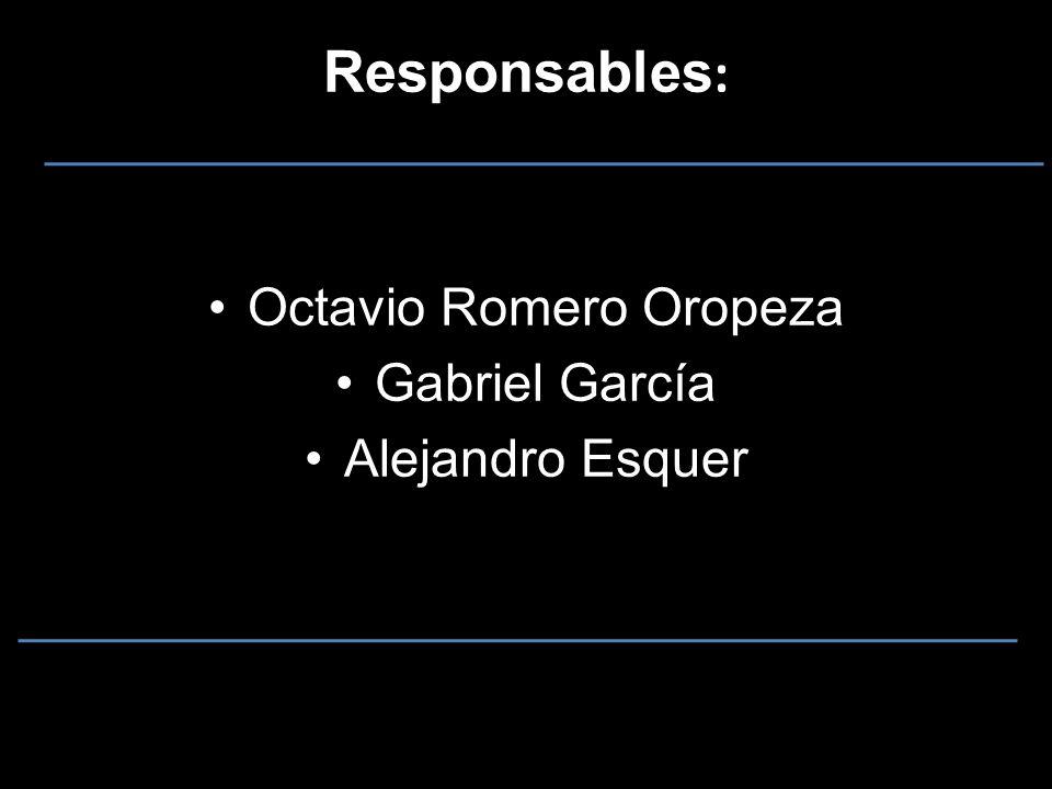 Responsables : Octavio Romero Oropeza Gabriel García Alejandro Esquer