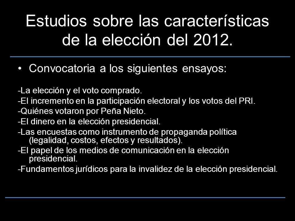 Estudios sobre las características de la elección del 2012.