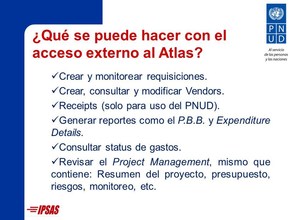 Roles y Responsabilidades El personal administrativo puede: Elaborar requisiciones y vendors.