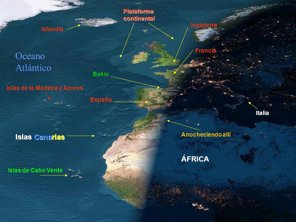 ¡QUE ESPECTÁCULO. Ahora... anochece en Europa y Africa, en un día sin nubes...