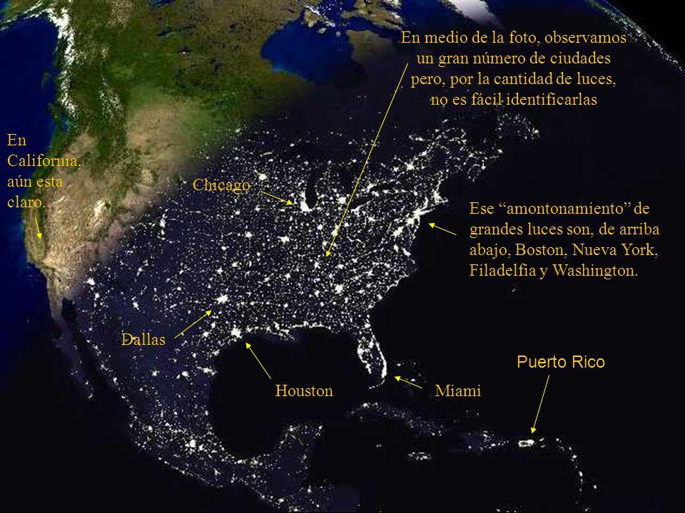 Esta foto da la vista de los Estados Unidos al anochecer.