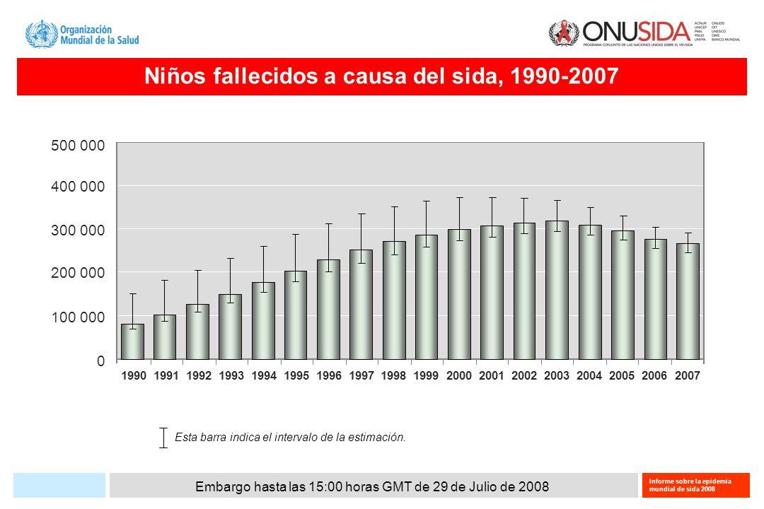 Embargo hasta las 15:00 horas GMT de 29 de Julio de 2008 Informe sobre la epidemia mundial de sida 2008