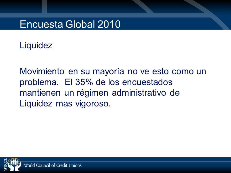 Encuesta Global 2010 Liquidez Movimiento en su mayoría no ve esto como un problema.