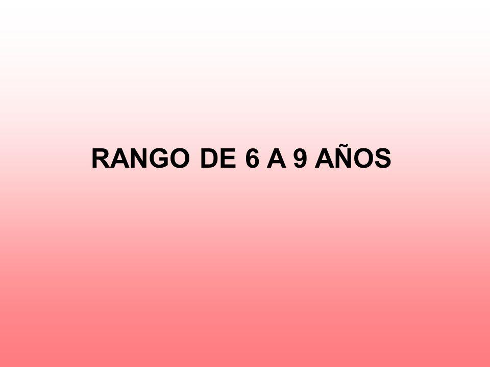 RANGO DE 6 A 9 AÑOS