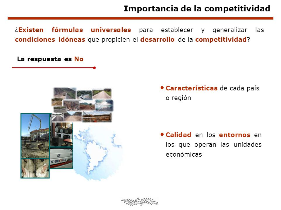Importancia de la competitividad ¿Existen fórmulas universales para establecer y generalizar las condiciones idóneas que propicien el desarrollo de la