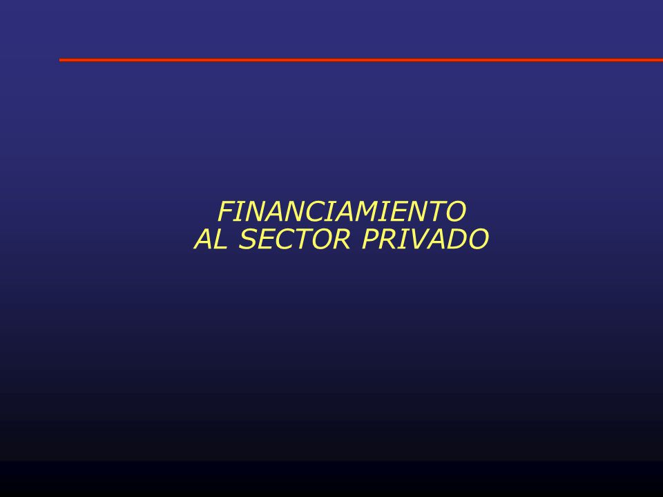 FINANCIAMIENTO AL SECTOR PRIVADO