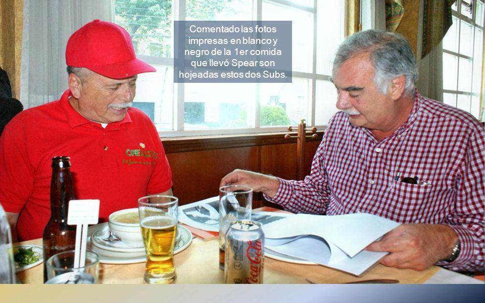 Orgullosos y felices por la presencia de nuestro jefe y amigo, el Capitán Sergio Rodríguez G.