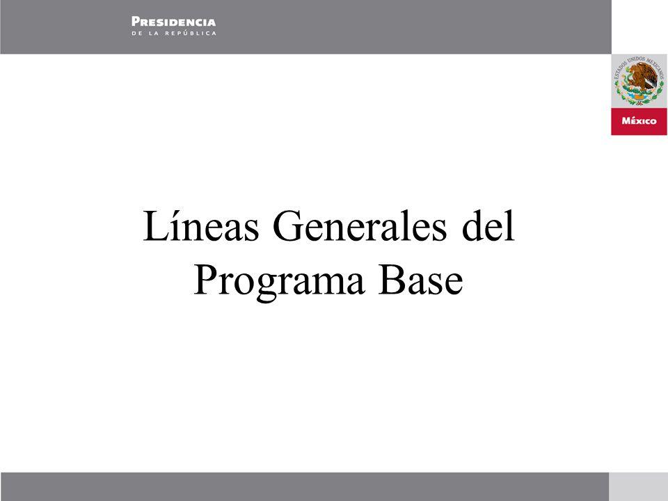 Líneas Generales del Programa Base