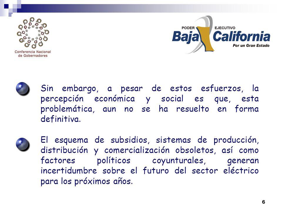 6 Sin embargo, a pesar de estos esfuerzos, la percepción económica y social es que, esta problemática, aun no se ha resuelto en forma definitiva.