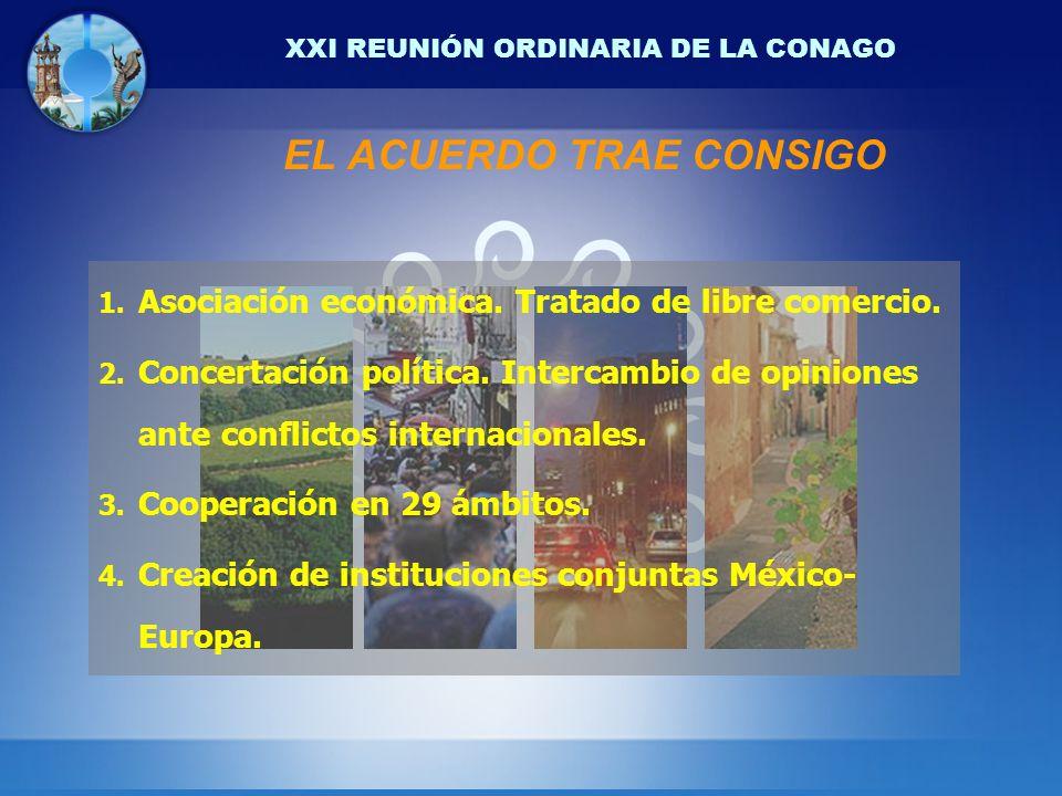 XXI REUNIÓN ORDINARIA DE LA CONAGO EL ACUERDO TRAE CONSIGO 1.